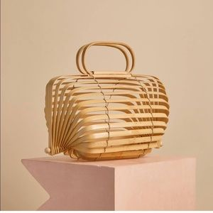 Cult Gia Bamboo Caged Collapsable Bag NWOT